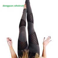 Wholesale new leggings for women - New Fashion Sexy fitness legging Mesh patchwork athleisure Slim leggings pants Jeggings elastic leggings for women dongguan_wholesale