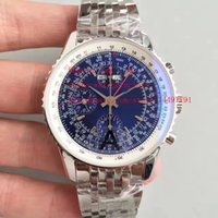 Wholesale Eta Swiss Date - 4 Color Luxury JF Factory High Quality Watch Stainless Steel Swiss ETA 7750 Movement 44mm Navitimer GMT Automatic Mens Watch Watches