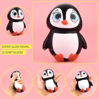Wholesale Toys For Females - Squishy Female Penguin 13.5cm Slow Rising Toy Relieve Stress Cake Sweet Animal PU Cell Phone Strap Phone Pendant Key Chain Toy Gift