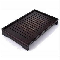 Wholesale Natural Wood Pieces - YGS-Y186 Hot Sale Kung Fu Tea Set Natural Solid Wooden Tea Tray Rectangular Wood Traditional Puer Tea Tray Big Size
