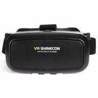 shinecon vr realidad virtual para smartphone al por mayor-Realidad Virtual VR Shinecon VR Gafas Real 3D Casco Cartón Móvil Película Cine 3D para iPhone Samsung 4.0 -6 pulgadas Smartphone