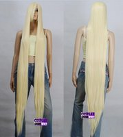 Wholesale Extra Long Blonde Cosplay Wig - Wholesale free shipping >> 150cm light golden blonde Heat Styleable Extra Long Cosplay Wigs 81_LGB