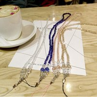 Universal Crystal Bead Cell Phone Straps Mobile Phone Charms Multi Color Neck Strap Lanyard pour téléphone Case Keys