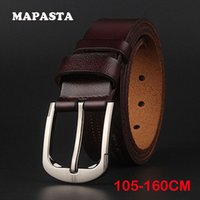 Wholesale Wholesaler Branded Jeans - Wholesale- [MAPAST] 2017 new Brand male leather belt lengthened leather belt mens jeans casual belt 105 CM-165CM