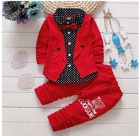 Wholesale Cute Baby Suits For Boys - Children's Suit Baby Boy Clothes Set Cotton Fashion Infant Sets For Newborn Cute Cartoon Baby Boy Girl Clothing Kids Suits