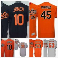 Wholesale Adam Jones Jersey - Adam Jones Jersey 10 Zach Britton 53 Mark Trumbo 45 Brad Brach 35 Mens Baltimore Orioles Baseball Jerseys Full Stitched Logo Cool Base S-3XL