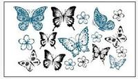 Wholesale Eye Makeup For Men - Wholesale- (Min order $0.5) Temporary Tattoo For man Woman Waterproof Stickers makeup maquiagem make up kinds of butterflies tattoo WM179