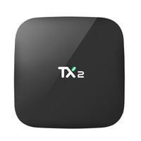 caja de tv tx2 al por mayor-2GB 16GB Android Box TX2 R2 RK3229 Quad Core Media Box Smart TV Box 7.1 admite BT2.1 WIFI DLNA 4K H.265 H.264 HD2.0