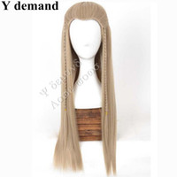 Wholesale Blonde Men Wigs - Fashion FREE P&P>>>>>>The Hobbit Legolas Long Straight Men Wig Ash Blond Movie Cosplay Wig None Lace Hair In Stock