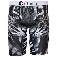 Ethika Men's Staple underwea negro n blanco tigre deportes hip hop rock excise ropa interior patineta calle moda streched legging secado rápido