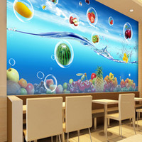 Wholesale Background For Kids Photos - Custom Photo Wallpaper 3D Fruit Large Mural Cafe Juice Drinks Shop Restaurant Living Room Background Wall Papers Home Decor