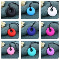 Wholesale Wholesale Teething Jewelry - Necklace Baby BPA Free Baby Nursing Jewelry for Mom 100% Food Grade Silicone Teething Pendant Soft Necklace Toys for Chew Free Shipping
