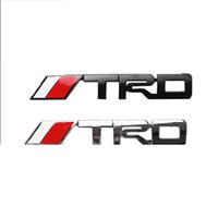 Wholesale Trd Badge Emblem - (20 pieces  lot) Wholesale Car Styling 3d Metal TRD Sport Car Emblems Badge Decal On Car Stickers Bumper Sticker