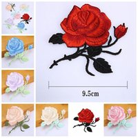 1 Pcs De Flor De Rosa De Folhas De Bordado De Ferro Em Costura De Applique Cosido Em Patch Craft Sewing Repair Embroidered