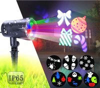 2017 Multicolor Halloween Christmas LED Projeção Lâmpada Outdoor Waterproof Film lâmpada de projeção Lawn Lights For Holiday Decoration
