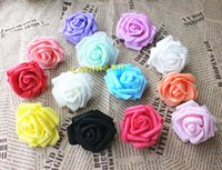 Wholesale Floral Wedding Arches - Wholesale-7CM 100PCS,Artificial Floral Foam Eva large Roses Heads,DIY hanging Kissing Balls,Decoration for Wedding car,Arch,Led And Home,