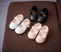 Wholesale Fabric Flowers Sold - free shipping Leather kid Shoes for fran group client make for sell
