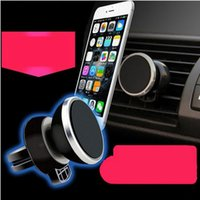 black racks - Car phone holder magnetic out of the air mobile phone rack magnet car stent magnet car with mobile phone supplies