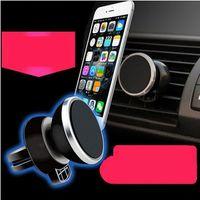 manyetik raflar toptan satış-Havadan cep telefonu tutucu manyetik cep telefonu raf mıknatıs araba cep telefonu malzemeleri ile araba stent mıknatıs araba