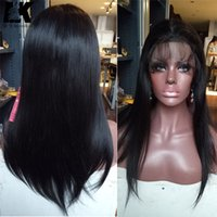 Wholesale real indian hair wigs women for sale - Group buy Brazilian Virgin Human Hair Glueless Full Lace Wigs With Baby Hair Cheap Real Hair Lace Front Wigs Straight inch For Black Women