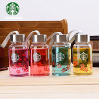 Wholesale Glass Bottles For Drinks - 2017new 180ml starbucks famous coffee brand logo water thermos cup glass my bottle portable cups for lovers children mug
