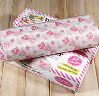 Wholesale Wholesale Soap Sheets - 100 Sheets Lot Flower Love Letter Christmas Wax Paper Food Wrapping Paper Greaseproof Baking Oil Soap Packaging Paper 21.8x25cm