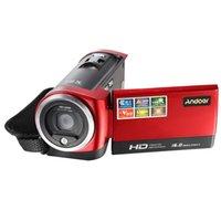 Wholesale Digital Video Camera Flash - 1080P Digital TFT Camera 2.4 Inch Screen 16.0 Mega Pixels CMOS Sensor DV With LED Fill Light Video Camera Recorder