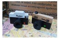 Wholesale Vintage Quality Camera - Wholesale- Mini Retro Vintage Camera Wooden Rubber Stamp Scrapbook DIY Floral Lace Decoration Stamp High Quality