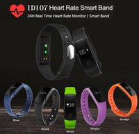 Wholesale Pulse Sport - Smart Watch ID107 Bluetooth 4.0 Smart Bracelet with Heart Rate Monitor Fitness Tracker Sports Wrist Watches for Android IOS 7.1 Phone