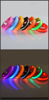 Wholesale Extra Lights - LED Nylon Pet Dog Collar Night Safety LED Light Flashing Glow in the Dark Small Dog Pet Leash Dog Collar Flashing Safety Collar 7 Colors