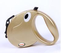 Wholesale Retractable Dog Leash Large - Automatic Retractable Nylon Rope Dog Pet Leash&Collar Dog Training Leash M L Size Gold Silvery Pet Supplier Mix Order Mix Color 10PCS LOT