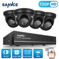 sistema de cámara de vigilancia para el hogar de 8 canales. al por mayor-Cámara inalámbrica cctv wifi SANNCE 8CH 1080N TVI H.264 + 8CH DVR 8720P Cúpula exterior CCTV Video Home Security Camera System Kits de vigilancia