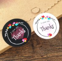 Wholesale Cute Indie Pop Style I Love You Thanks Stickers Decorative Stickers Decorative Packaging Baking Gifts