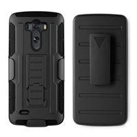 будущие телефоны оптовых-Для G3 Future Armor Impact Holster Гибридный жесткий чехол для LG G3 D850 D855 G4 Черный прочный пояс Клип Kickstand Armor Phone Case
