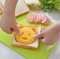 ingrosso torta di sfera diy-Bear Shape Sandwich Cutters Bread Cutter Cartone animato DIY Cake Mold Markers Biscotti Stampi Palline di riso Maker Mold Tools Cucina Bakeware