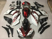 Wholesale Yamaha R1 Red White - Three free beautiful gift and new high quality ABS fairing plates for YAMAYA YZF-R25 R3 12-16 Very nice Bodywork red white and black
