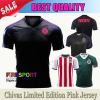 Wholesale Green Spandex Shirt - New Chivas de Guadala Soccer Jersey 2017 18 Mexico Club Chivas Pink Camiseta de Futbol 17 18 Guadalajara Limited Edition Football Shirts