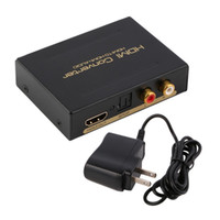 Wholesale Hdmi Rca Audio Splitter - New HDMI Audio Extractor Splitter to SPDIF RCA Stereo L R Analog Output Converter Wholesale