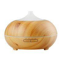 Wholesale rose aroma - 300ml Aroma Essential Oil Diffuser Wood Grain Ultrasonic Cool Mist Humidifier for Office Home Bedroom Living Room Study Yoga Spa