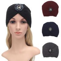 Wholesale Hat Womens - Fashion Womens Winter Warm Knit Crochet Ski Hat Braided Turban Headdress Cap