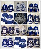 Wholesale Gold Leafs - 2017 Toronto Maple Leafs Centennial Classic 100th Anniversary Jerseys Hockey #29 William Nylander #16 Mitch Marner #34 Matthews #44 Rielly