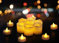 Wholesale white flickering battery tea lights for sale - Group buy Flickering Bulb Battery Operated Flameless LED Tea Light for Seasonal Festival Celebration Electric Fake Candle in Warm White and Wave Ope