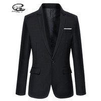 Wholesale Cheap Slim Blazers - Wholesale- 2016 New Cheap Mens Blazers Solid Terno Masculino Slim Fit Mens Formal Jackets Blazer Spring Style Casual Suit Men Plus Size 3XL