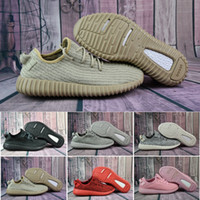 Wholesale Classic Lacing Canvas Shoes - 2017 Cheap Wholesale Discount Boosts 350 Kanye West Y 350 Classic Black 350 Men Tan Trainers Shoes Perfect 2016 Y 350 With Box