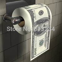 Wholesale Dollar Roll Paper - Wholesale-Free Shipping 3 Pieces Money Toilet Roll - Dollar Bill Toilet Paper  Novelty Toilet Tissue   home paper