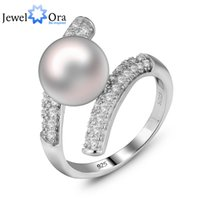 Wholesale Fresh Jewellery - Genuine 925 Fresh Water Silver Pearl Ring For Woman Fashion 925 Roman Pearl Ring Jewellery ( Ri100561) 17401