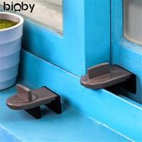 Wholesale iron cabinets - Safety Lock Move Window Child Sash Windows Sliding Door Cabinet Locks Thick Iron Material Straps Security