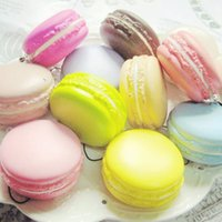 Wholesale New Arrival PC Kawaii Soft Dessert Macaron Squishy Cute Cell phone Charms Key Straps