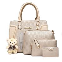 Wholesale Messenger Pieces - Women Bag Luxury Handbags Shoulder Patchwork Crossbody Messenger Women's Bag 4 Pieces Female Bolsa Feminina #1122