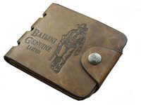 Wholesale Top Men Briefs - Top Quality Male Genuine Leather Brief Wallet Fashion Cowboy Men Wallets Purses Card Holder Cowhide Wallet Man